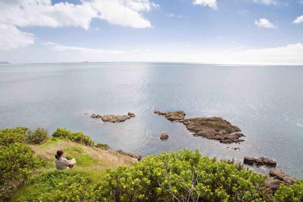 Matiatia Headlands Walkway on Waiheke Island off the coast of Auckland