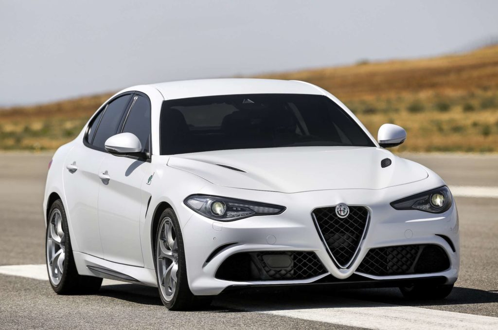 Alfa Romeo Francoforte seen here on the road is one of the top Italian luxury cars