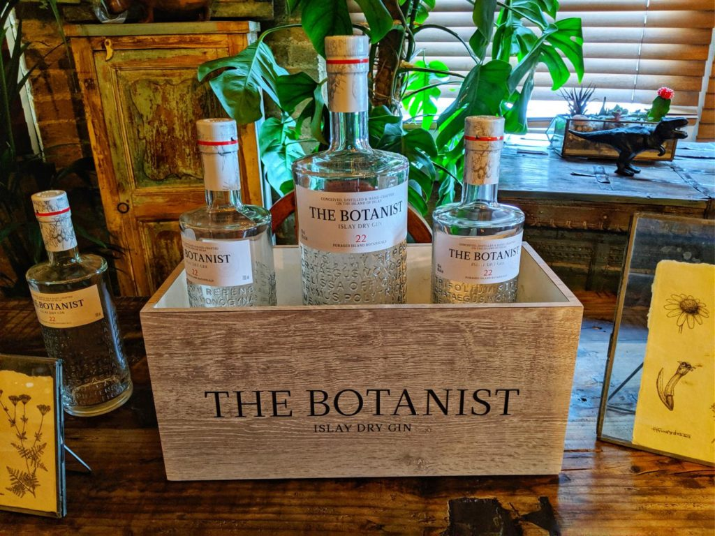 Botanist Gin on display at a recent tasting event