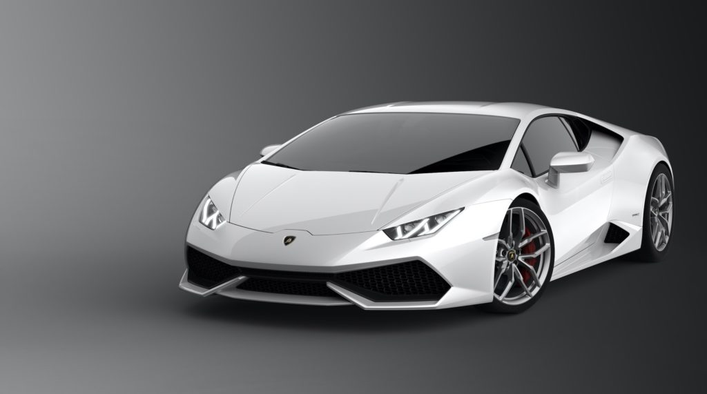 Lamborghini Aventador S is one of the top Italian luxury cars sold in white