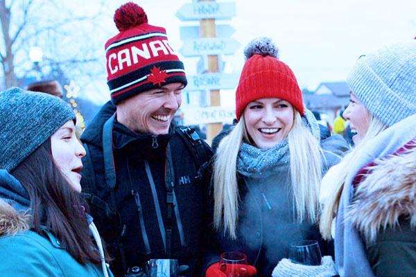 People having fun at the Niagara Icewine Festival