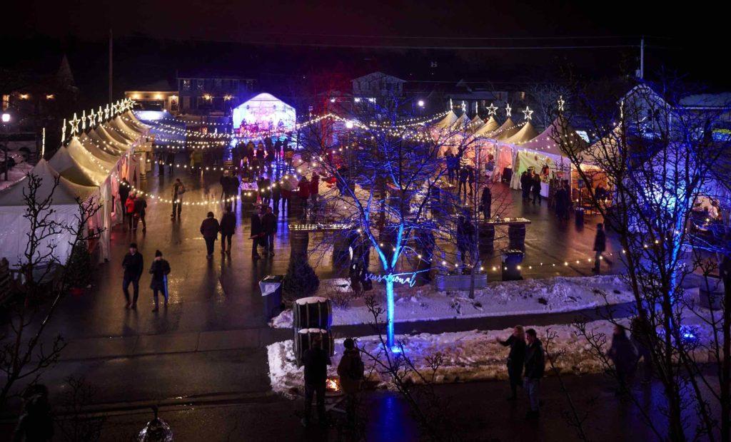 Twenty Valley WinterWinefest night time party with vendors