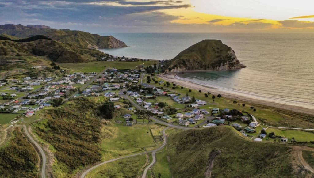 The incredible view over Panorama Heights in Mahia New Zealand