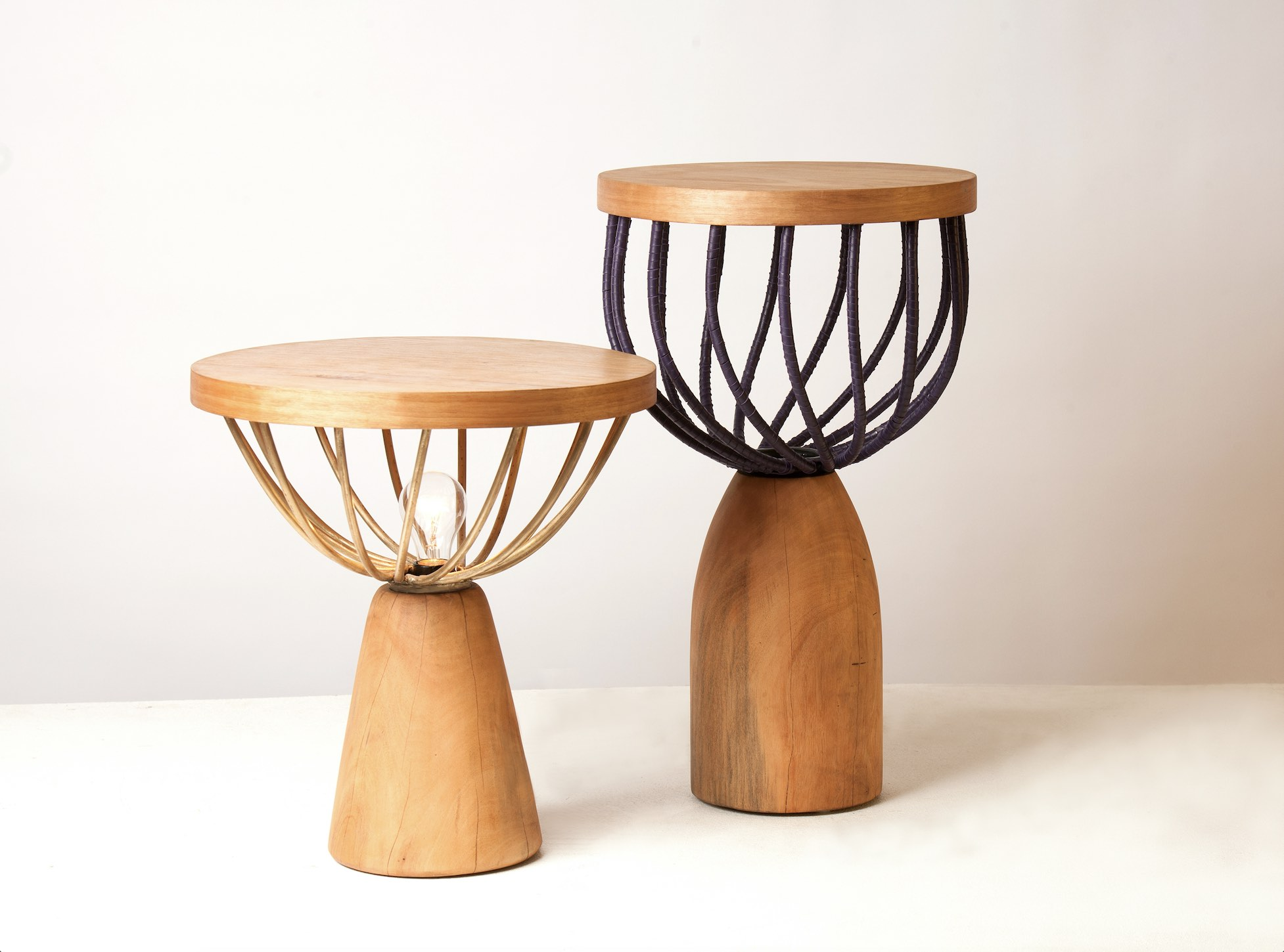 Studio Lani display of talking tables lights and tables