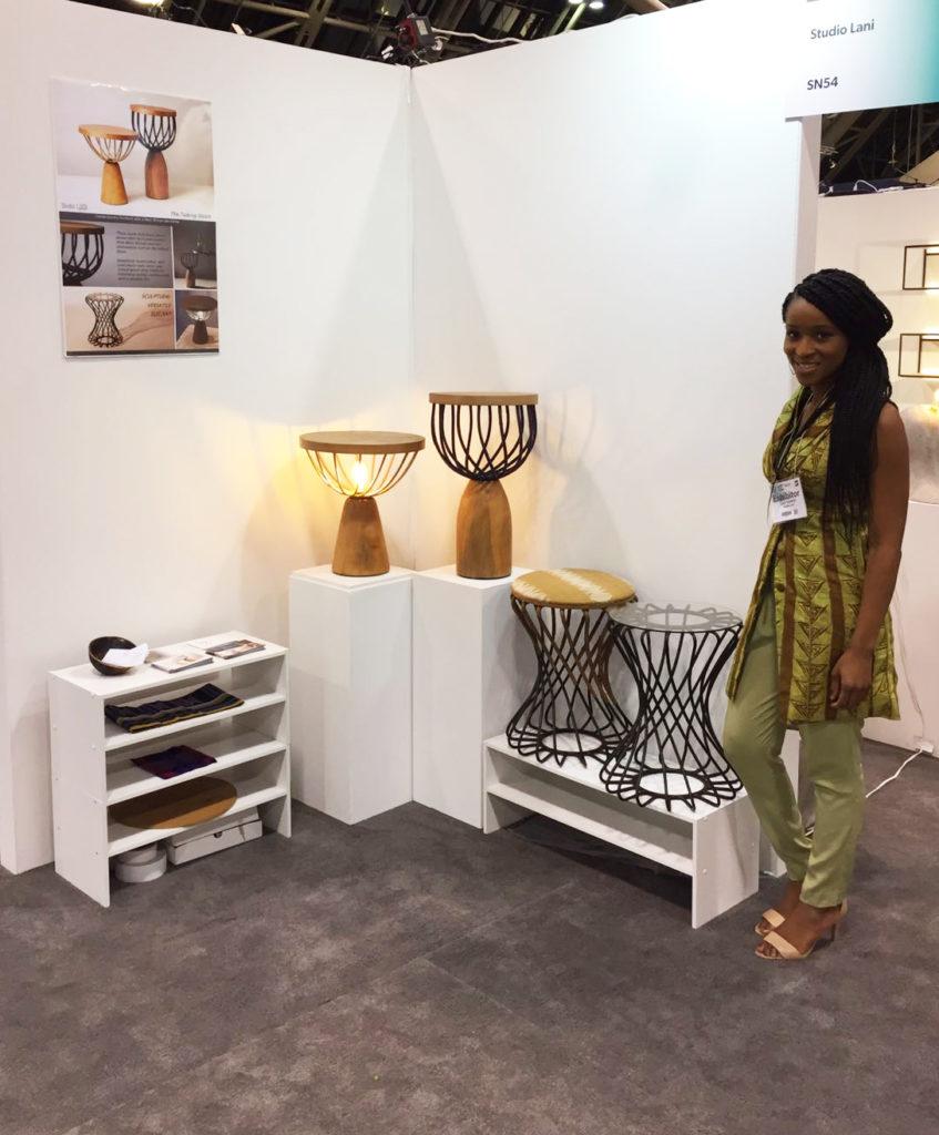 lani Studio Founder Lani with display at Toronto Design Show