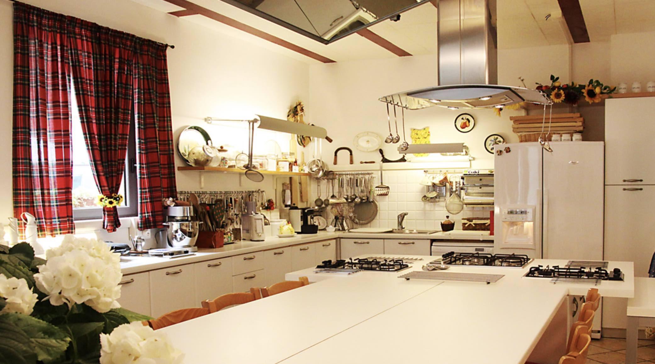 Tuscan cooking school kitchen