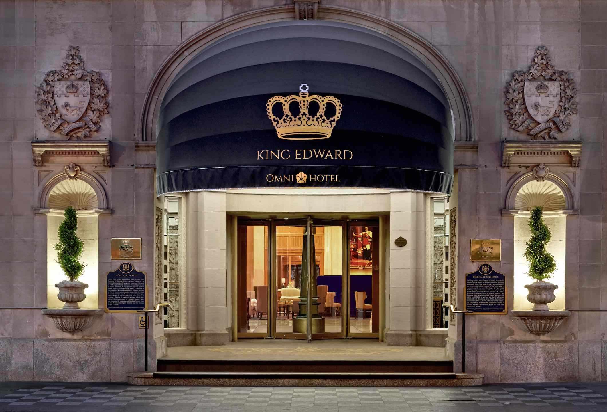 Front Entrance of the Omni King Edward Hotel Toronto