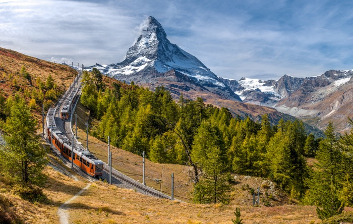 Swiss Alps with Matterhorn in background
