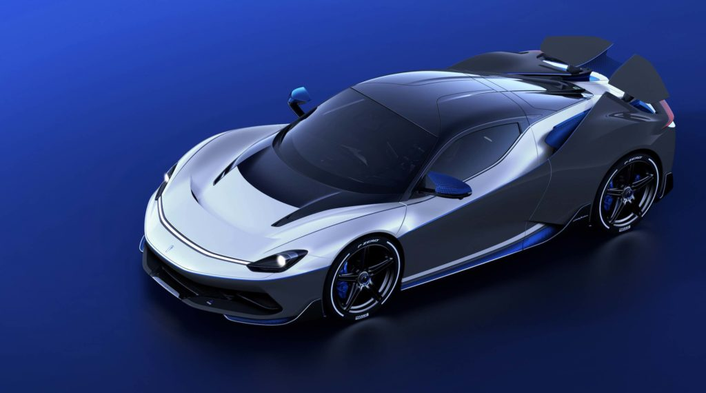 The new Pininfarina Battista Anniverario luxury car