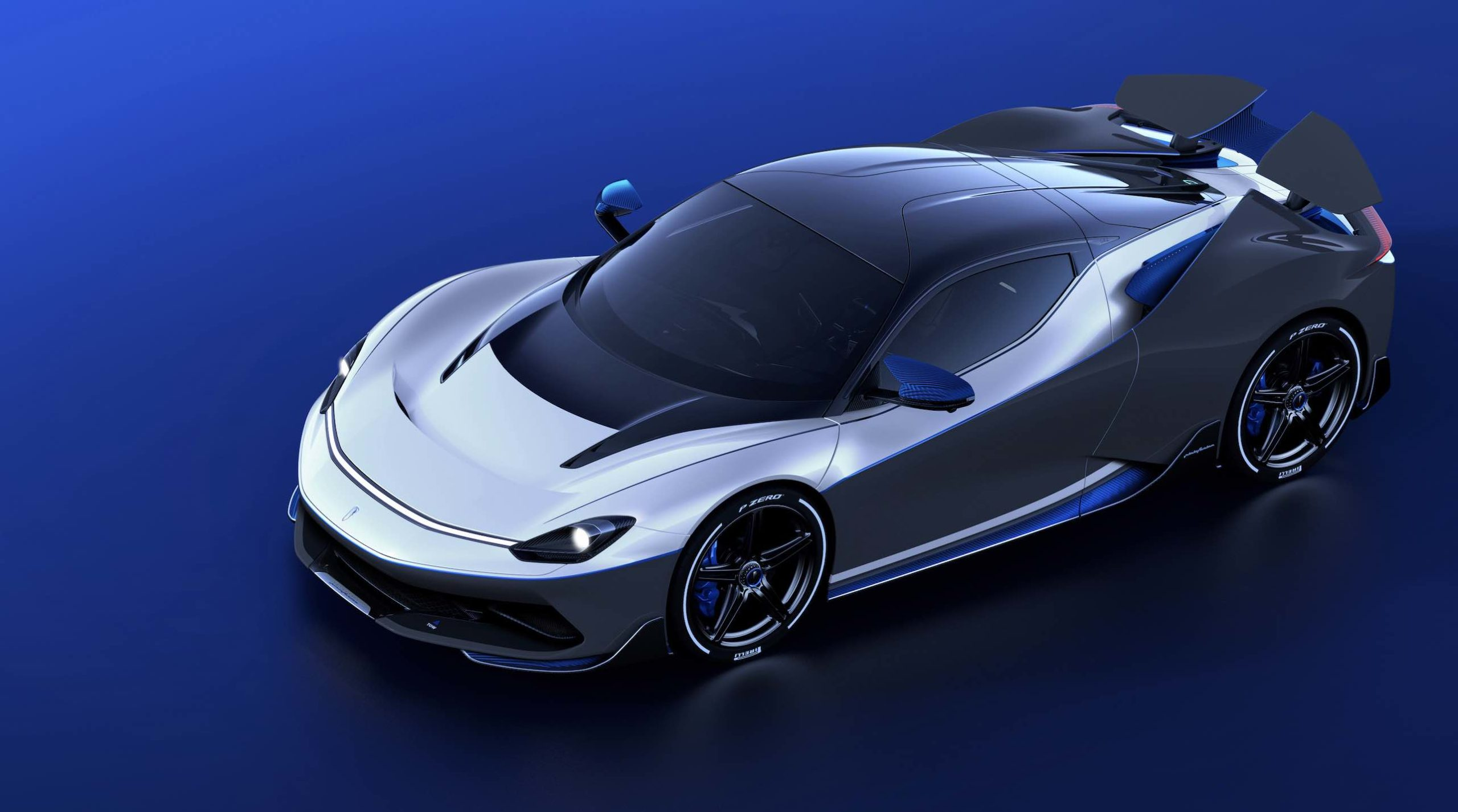 The new Pininfarina Battista Anniverario luxury car