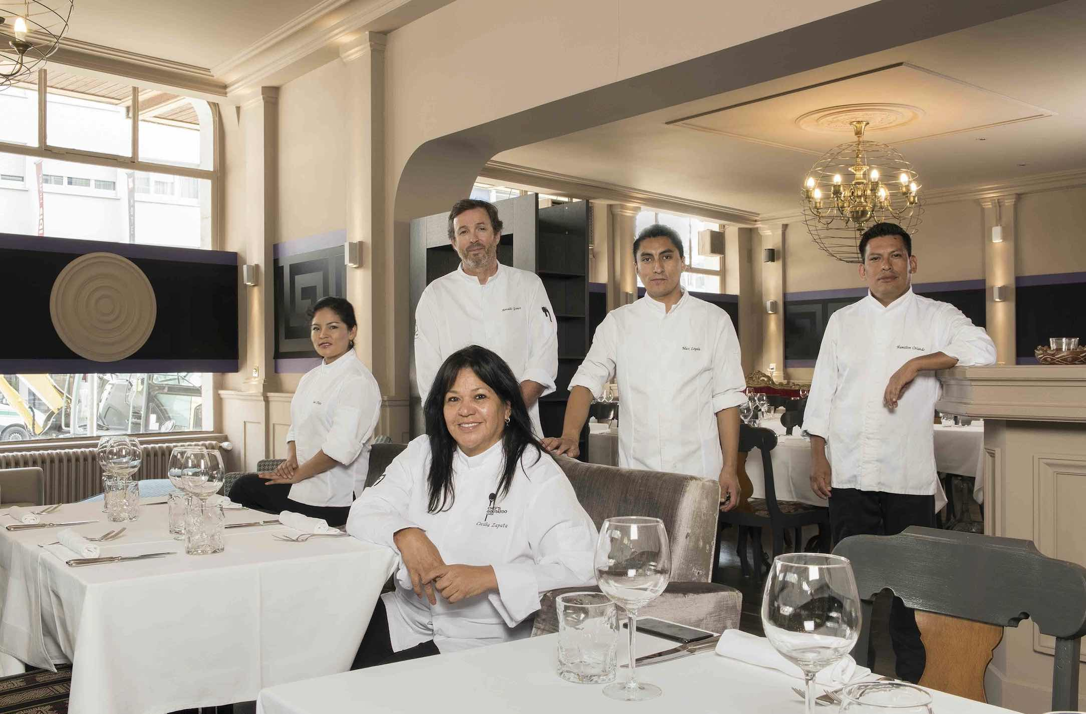 Celilia Zapata and Team at Pachacamac