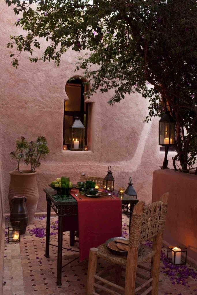 Dining outside your own room at Le Jardin des Douars-PAula LAgos copy
