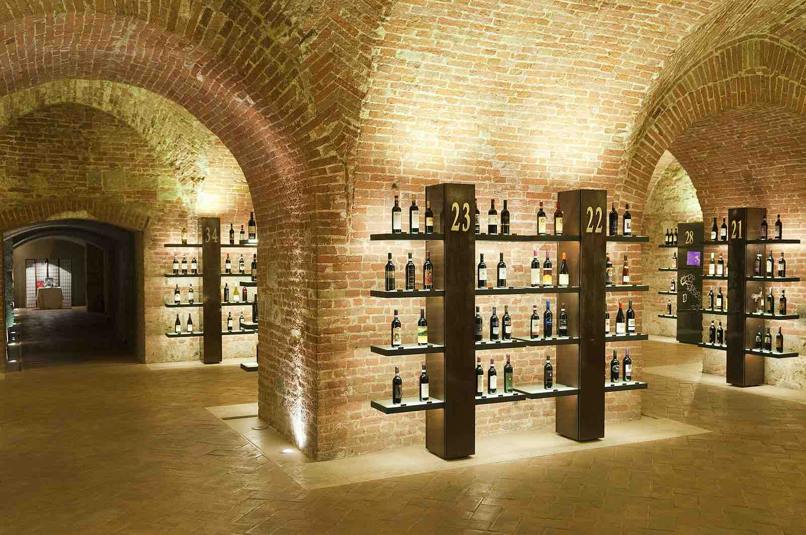 Top things to do in Tuscany include visiting Enoteca Italiana to sample their wines in these cellars