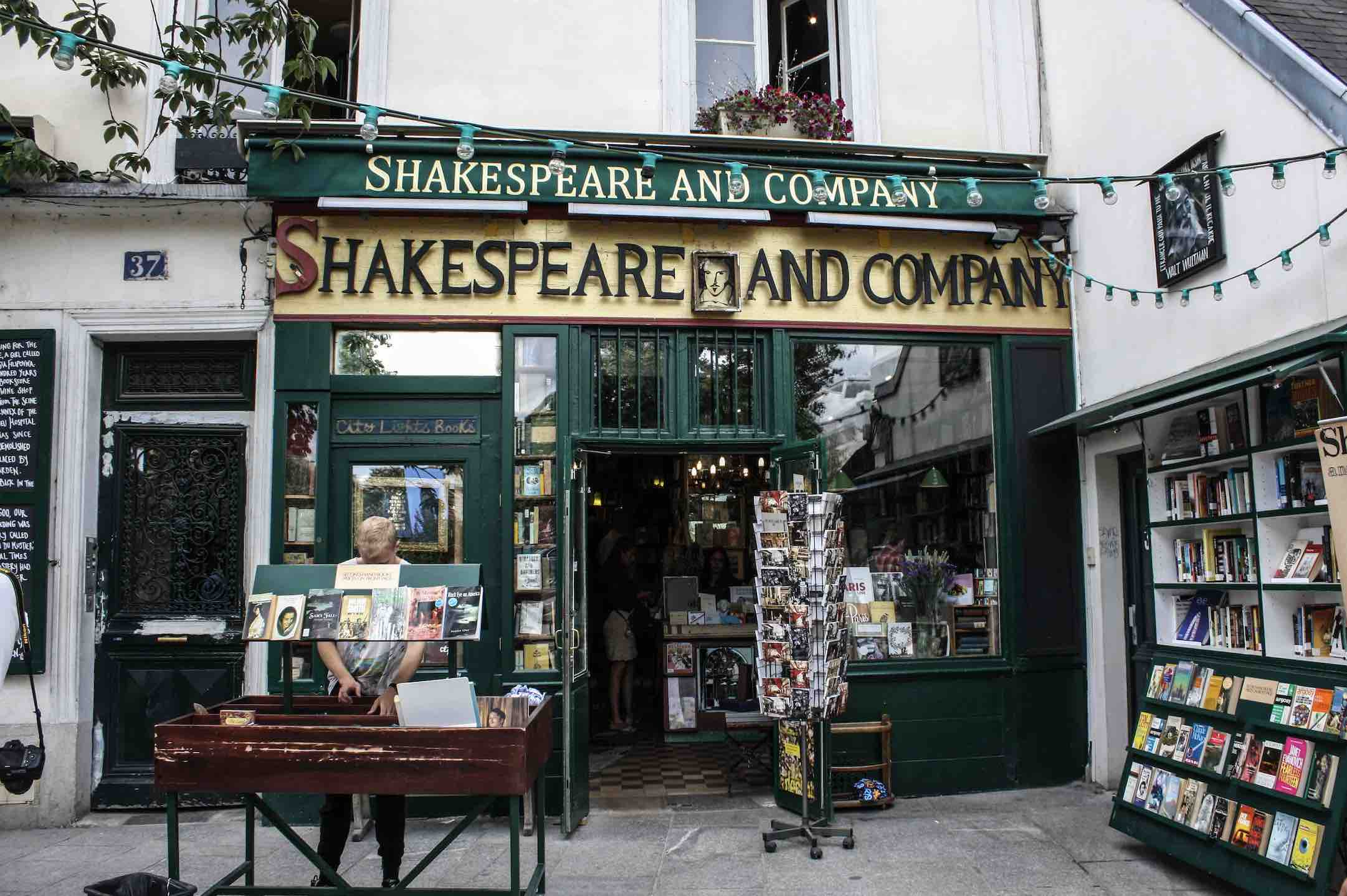 The Shakespeare and Company Bookstore exterior is one of the top things to do in Paris for book lovers to visit