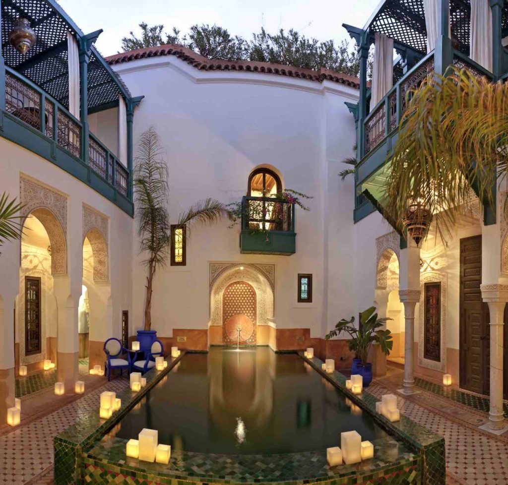 The inner courtyard at Riad Farnatchi