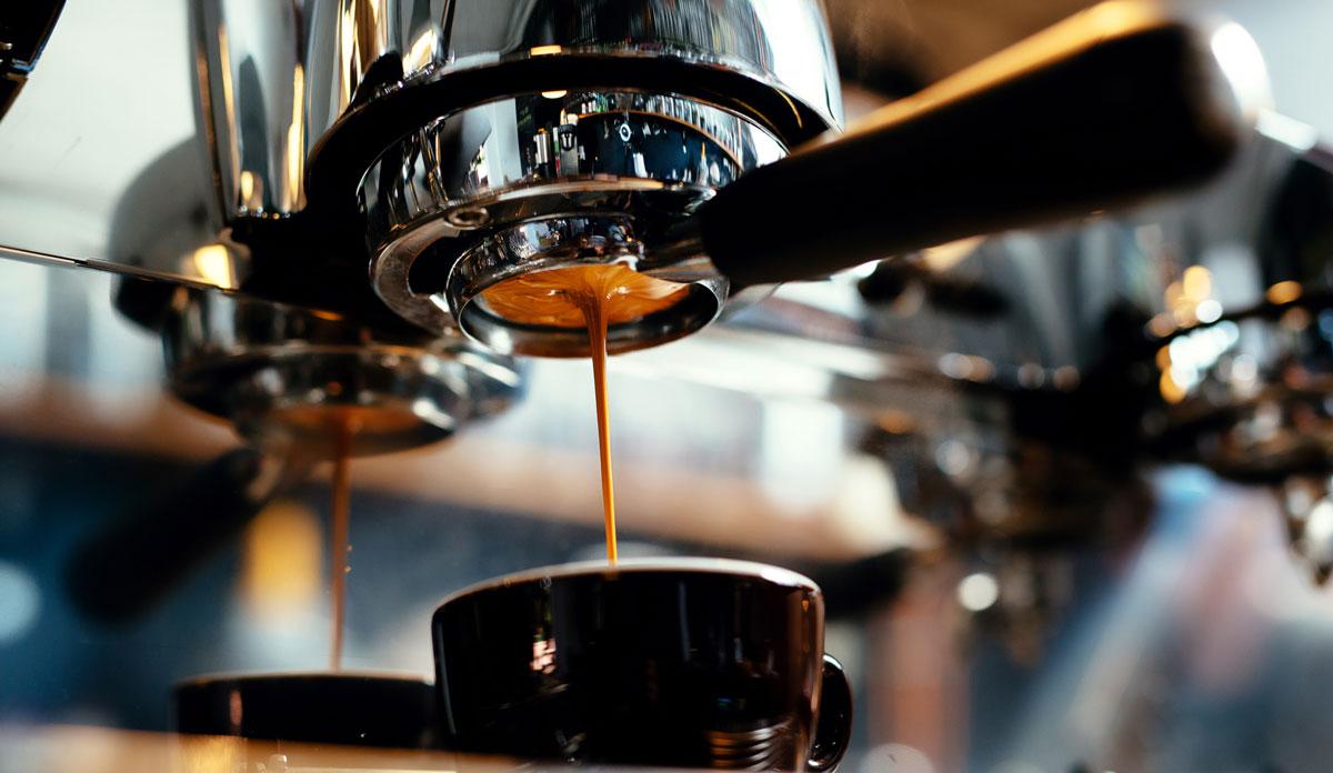 espresso machines m aking coffee