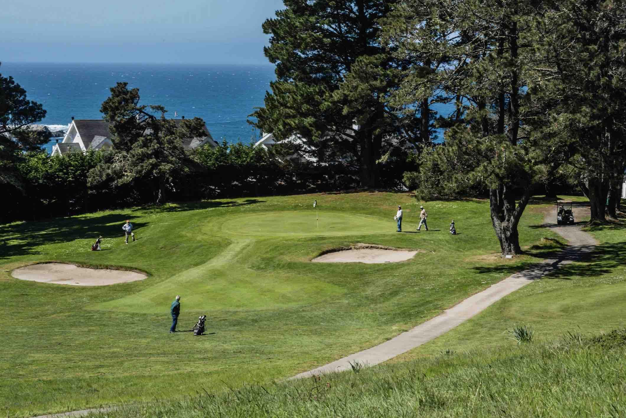 Looking Down the Little River Inn  Golf Course Towards Ocean - Photo by Brendan McGuigan