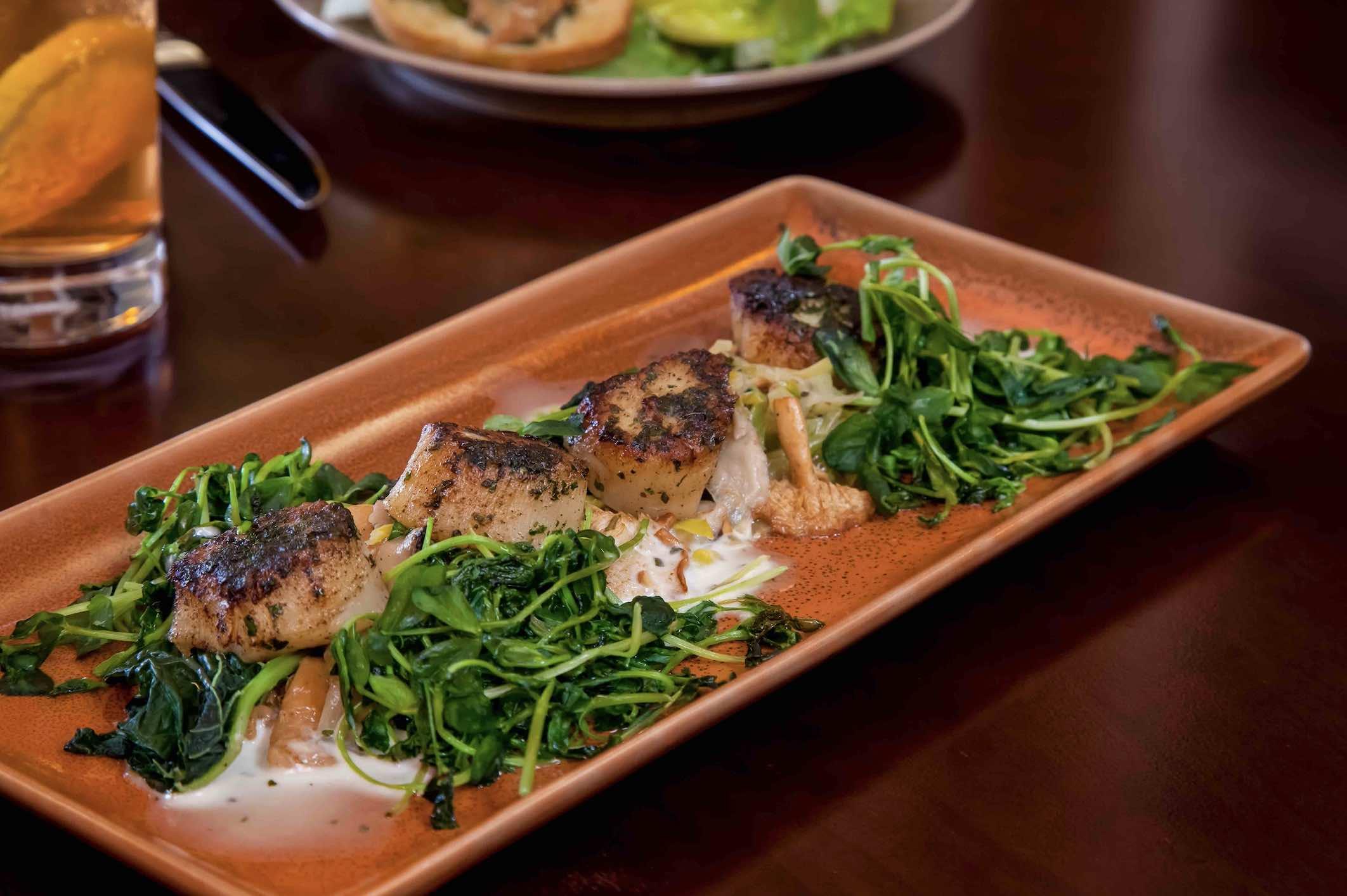 Noyo Harbor Inn Food Full-4 fish dish with garnish